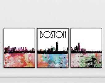 340x270 Boston Watercolor Etsy