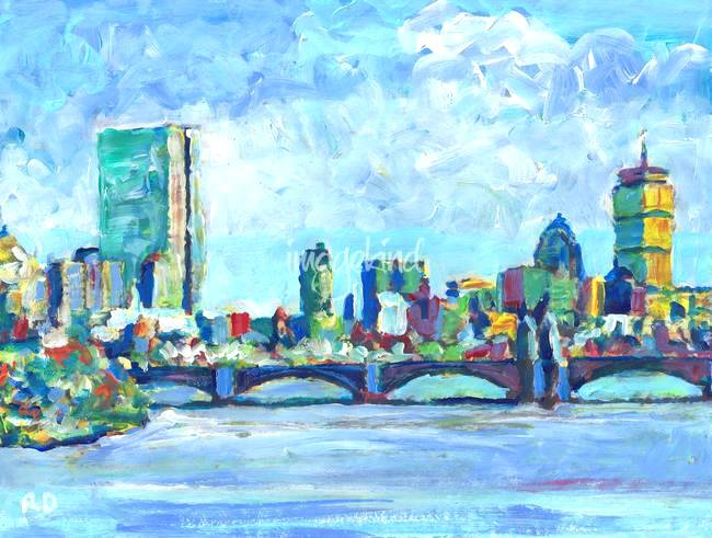 650x491 Commission A Painting Today Boston Skyline Of Startupeducation