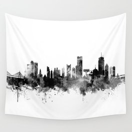 264x264 Skyline Watercolor Wall Tapestries Society6