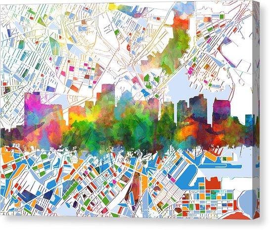 546x466 Boston Skyline Art Fine Art America