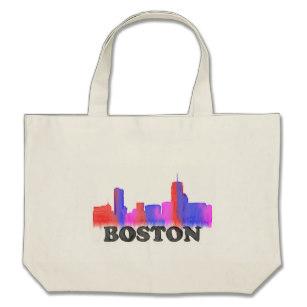 307x307 Boston Skyline Bags Zazzle