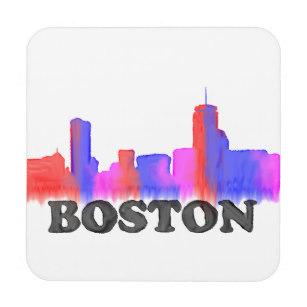 307x307 Boston Skyline Drink Amp Beverage Coasters Zazzle