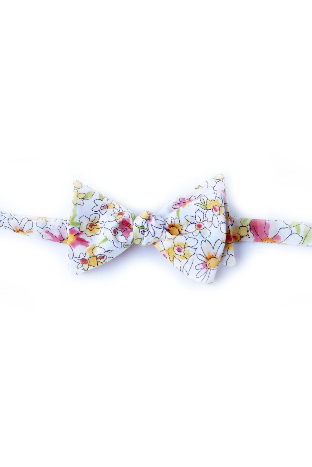 1000x1494 Watercolor Floral Bow Tie Anna Runa