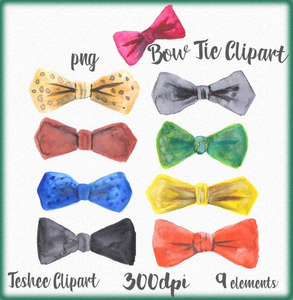 570x585 Bow Tie Clipart Watercolor Bow Tie Watercolor Clip Art Etsy
