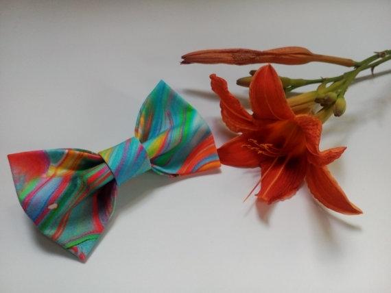 570x428 Wedding Bow Tie Raitnbe3 Watercolor Ties