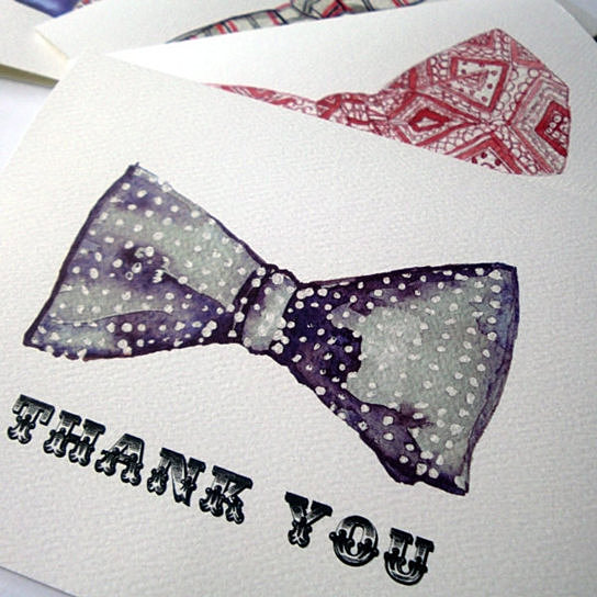 544x544 Buy Mens Bowtie Thank You Notes