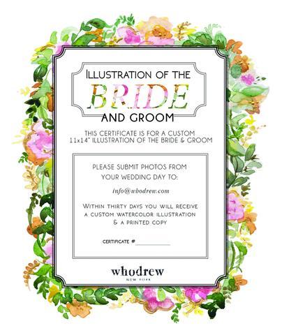 404x480 Custom Illustration Of The Bride And Groom Whodrew
