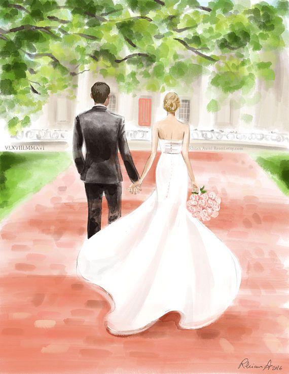 570x738 Custom Wedding Portrait