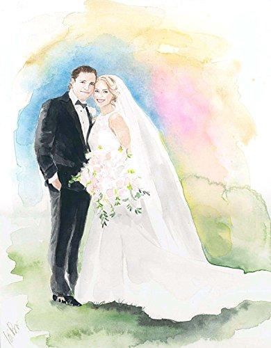 390x500 Wedding Painting Bride And Groom Painting Custom