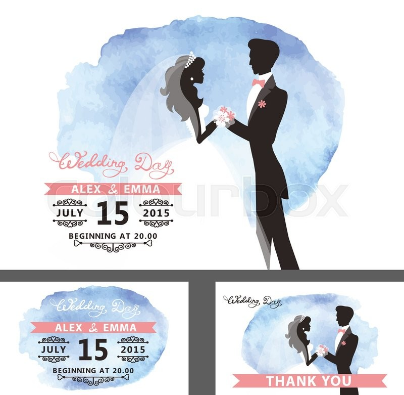 800x781 Wedding Bridal Shower Invitation Template Set With Watercolor Cyan