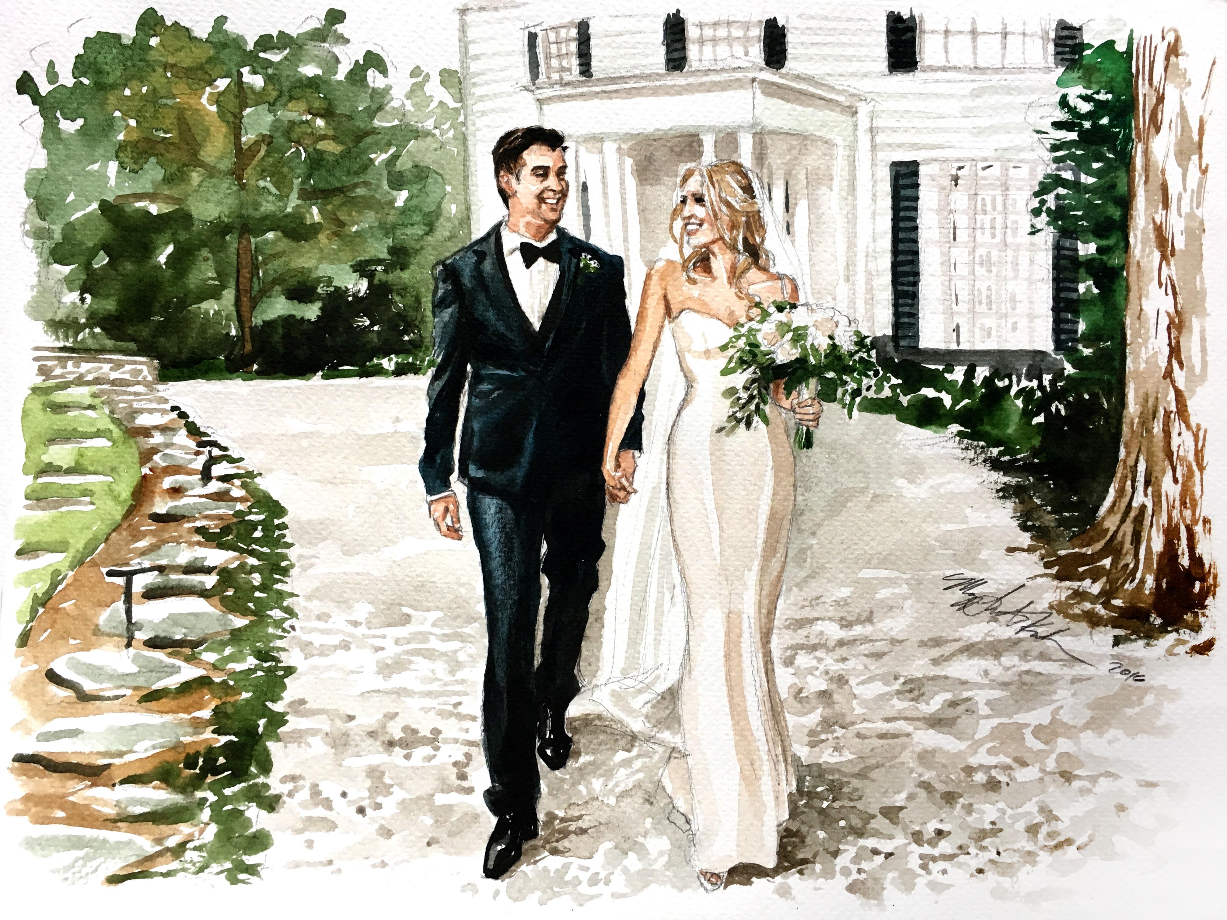 4032x3024 Wedding Photography Based Watercolor Portrait Iamnotmaggie