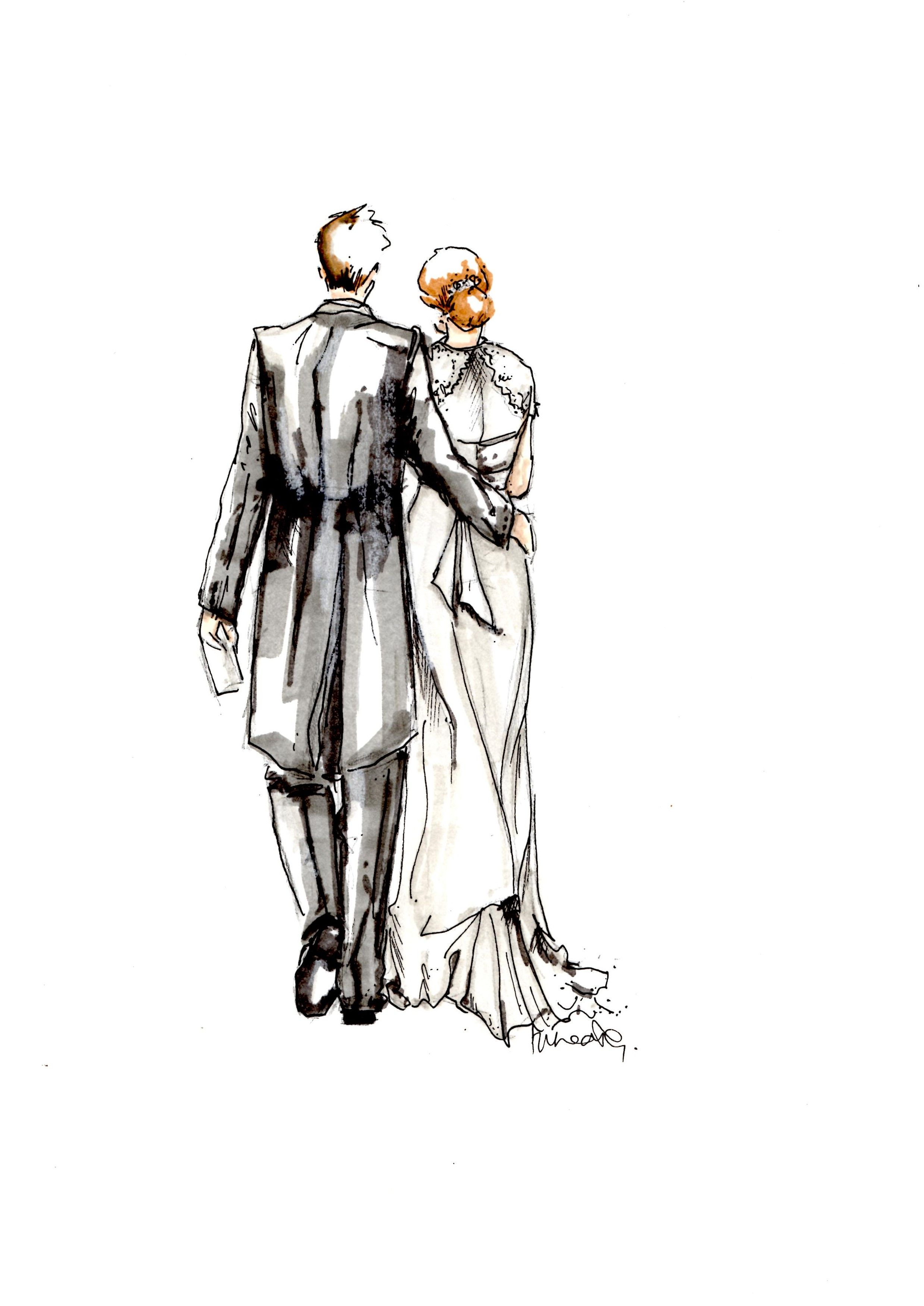 2477x3500 Bride And Groom Sketch Creatively Sketches