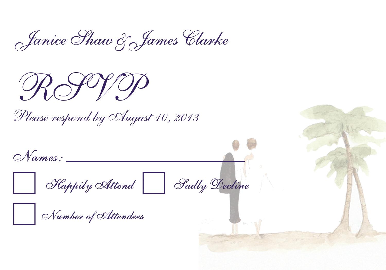 1500x1050 Beach Wedding Invitation