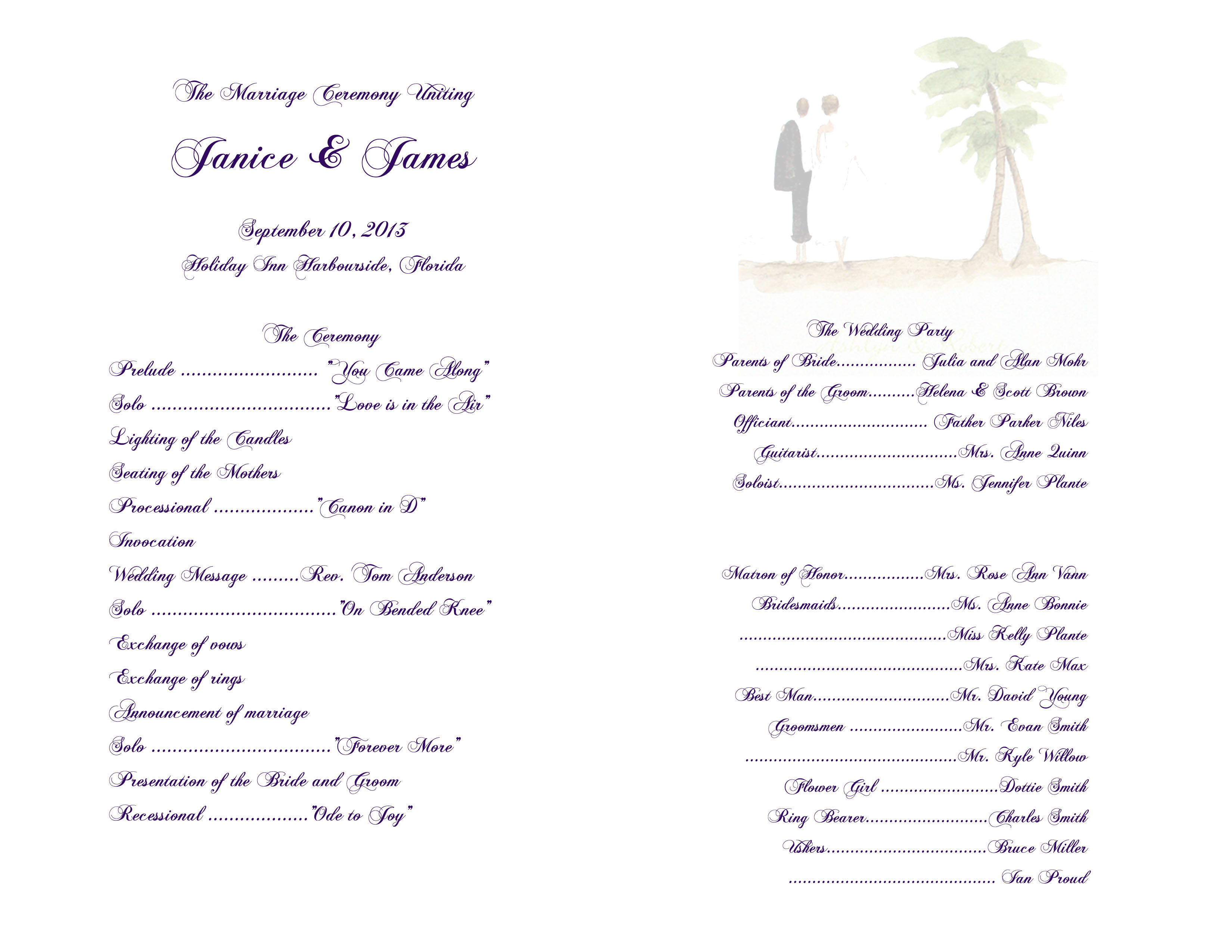 3300x2550 Beach Wedding Invitations