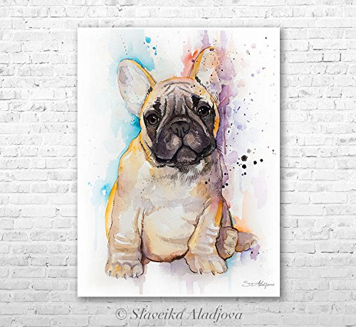 Bulldog Watercolor