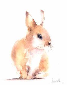 Bunny Watercolor Paintings