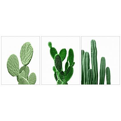 425x425 Meishe Art Modern Poster Print Cactus Watercolor