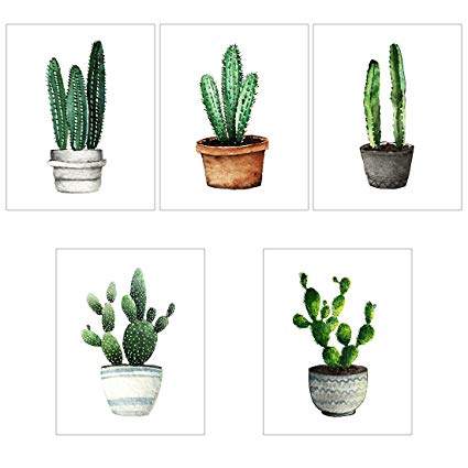 425x425 Meishe Art Modern Poster Print Cactus In Pot Potted
