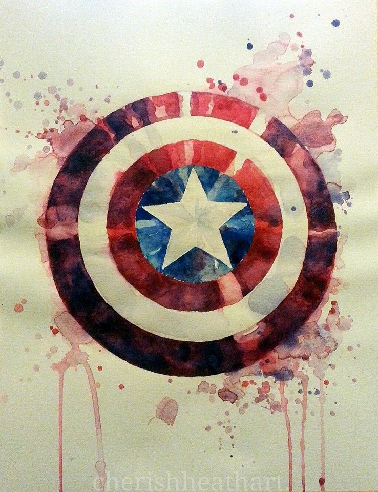 738x960 Captain America Watercolor Art Capt America