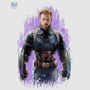 300x300 Captain America Infinity War Watercolor Posterrific