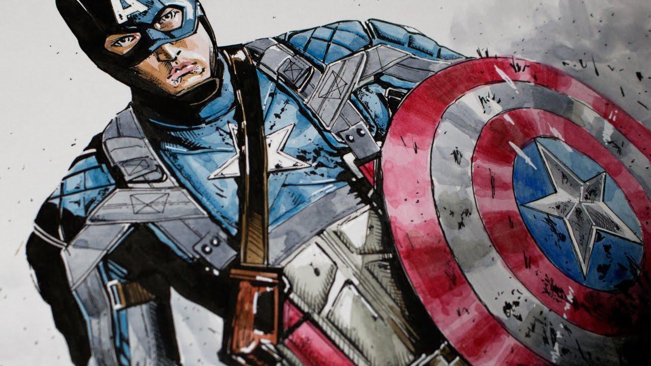 1280x720 Drawing Captain America Civil War