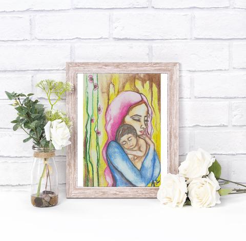 480x471 Catholic Wall Art, Catholic Painting, Virgin Mary Painting