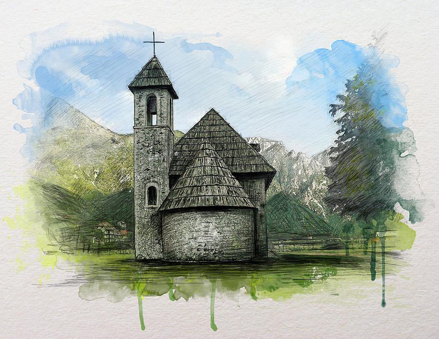 900x695 Catholic Church In Theth Valley