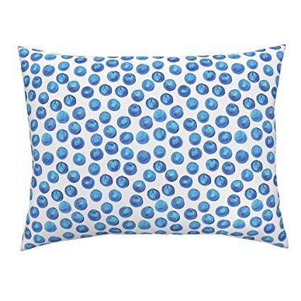 425x425 Blue Cerulean Blue Dots Blue Watercolor Dots