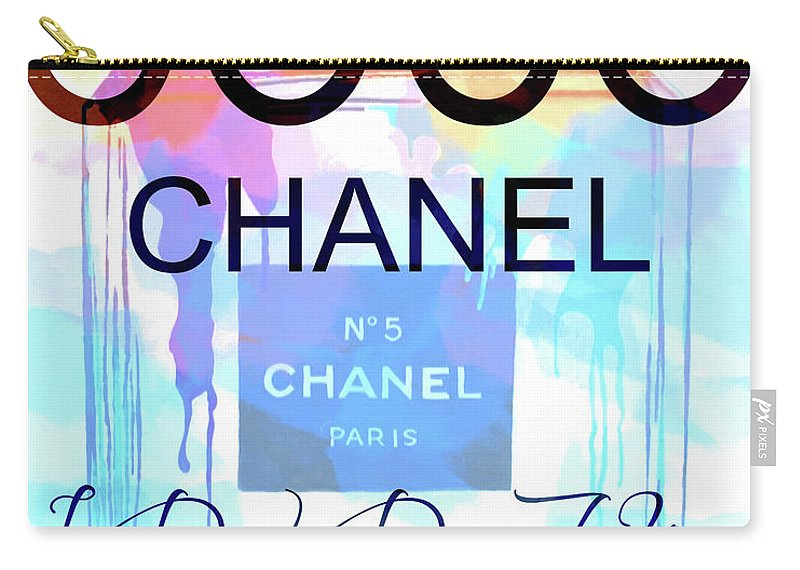 9f106ec2260 800x570 Coco Chanel Watercolor Quote Carry All Pouch For Sale By Dan Sproul
