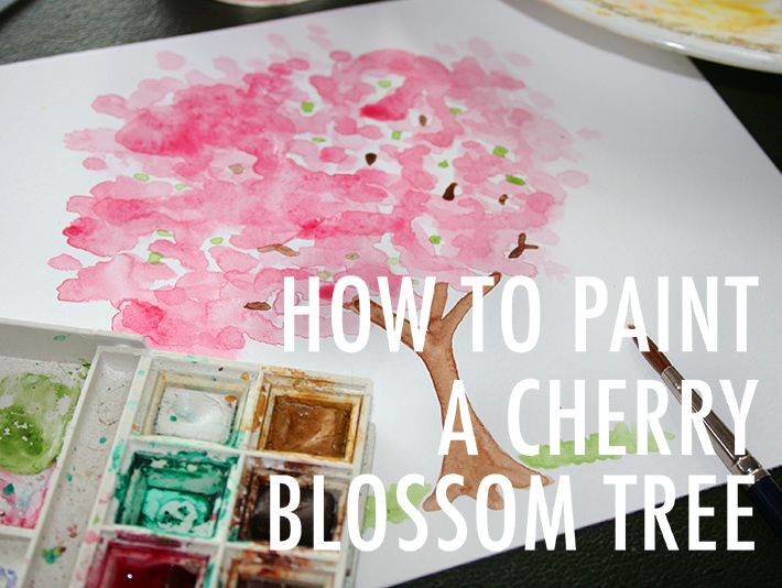 710x534 Cherry Blossom Painting Tutorial How To Paint Cherry Blossom Trees