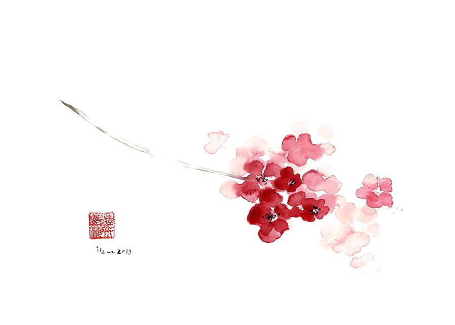 900x642 Cherry Blossom Watercolor Japanese. Watercolor Cherry Blossom
