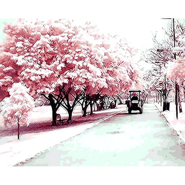 640x640 Cherry Tree Paint Cherry Blossom Watercolor Painting Cherry