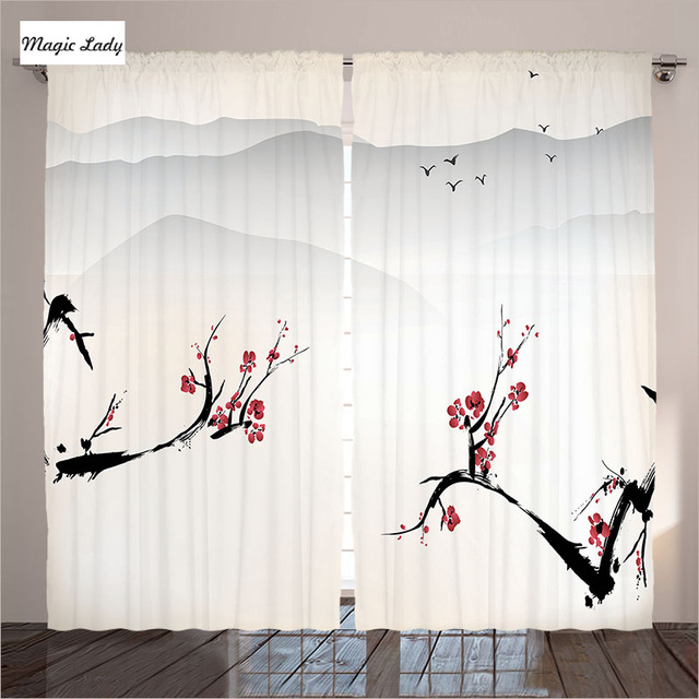 640x640 Window Curtains Treatments 2 Panels House Stylized Blooming