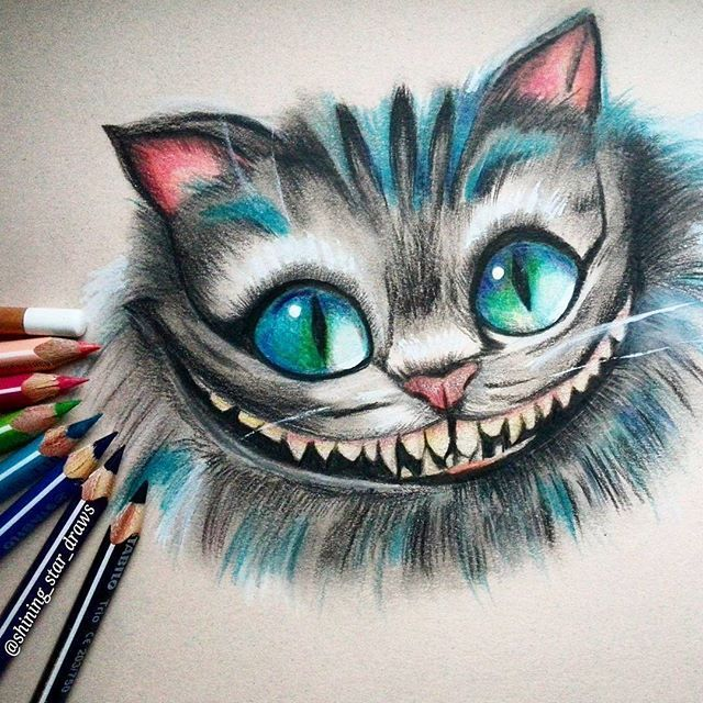 Cheshire Cat Watercolor
