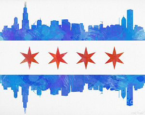 300x238 Chicago Skyline Paintings Fine Art America