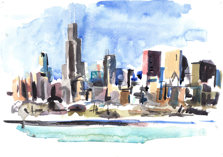 742x525 Chicago Skyline
