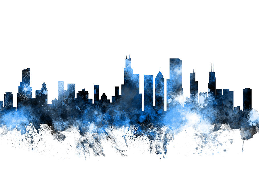 900x600 Chicago Skyline Art Fine Art America