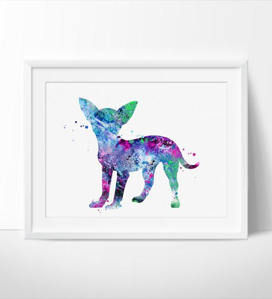 547x600 Chihuahua Watercolor Print, Chihuahua Art Print, Watercolor Print