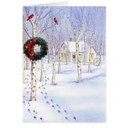 250x250 Christmas Scene Watercolor Card Zazzle Christmas Watercolor