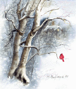 254x300 Make Your Own Christmas Cards, Free Art Lesson