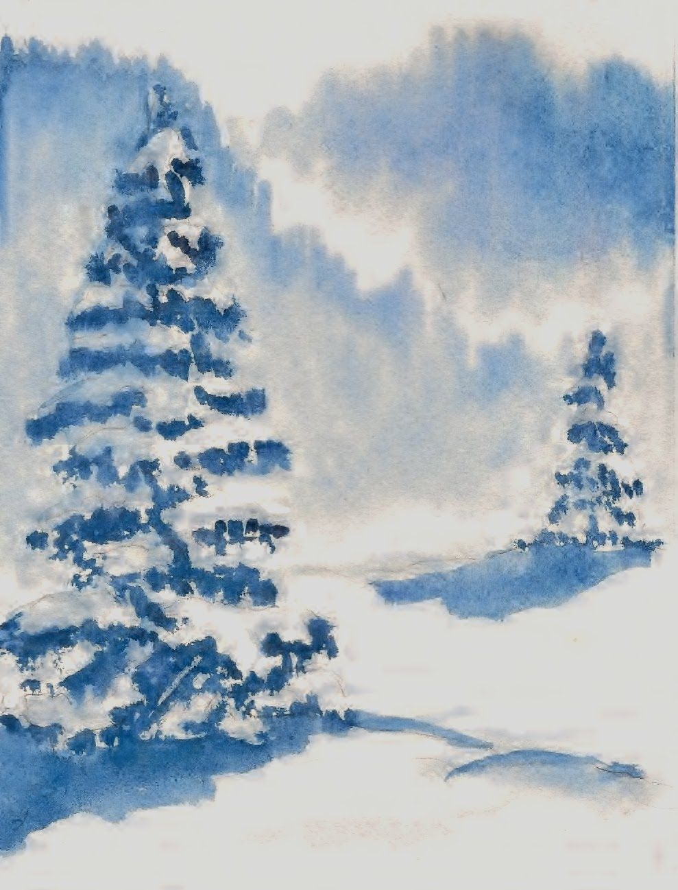 989x1297 Paint Your Own Christmas Cards Wet In Wet