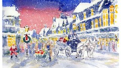 240x135 Watercolor Painting Nostalgic Christmas Scene How To Paint. Udemy