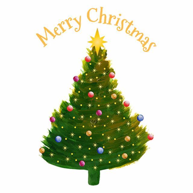 640x640 Watercolor Abstract Christmas Tree, Watercolor Vector, Abstract