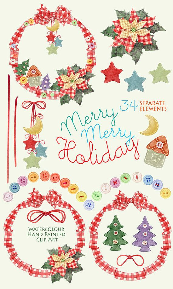 570x950 Christmas Watercolor Clipart