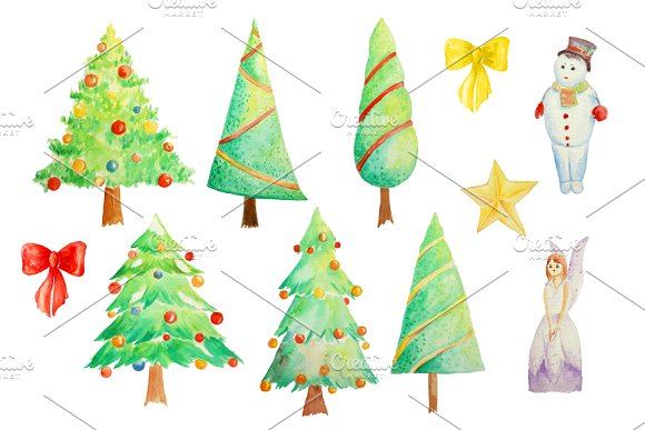 580x387 Watercolor Clipart Tree