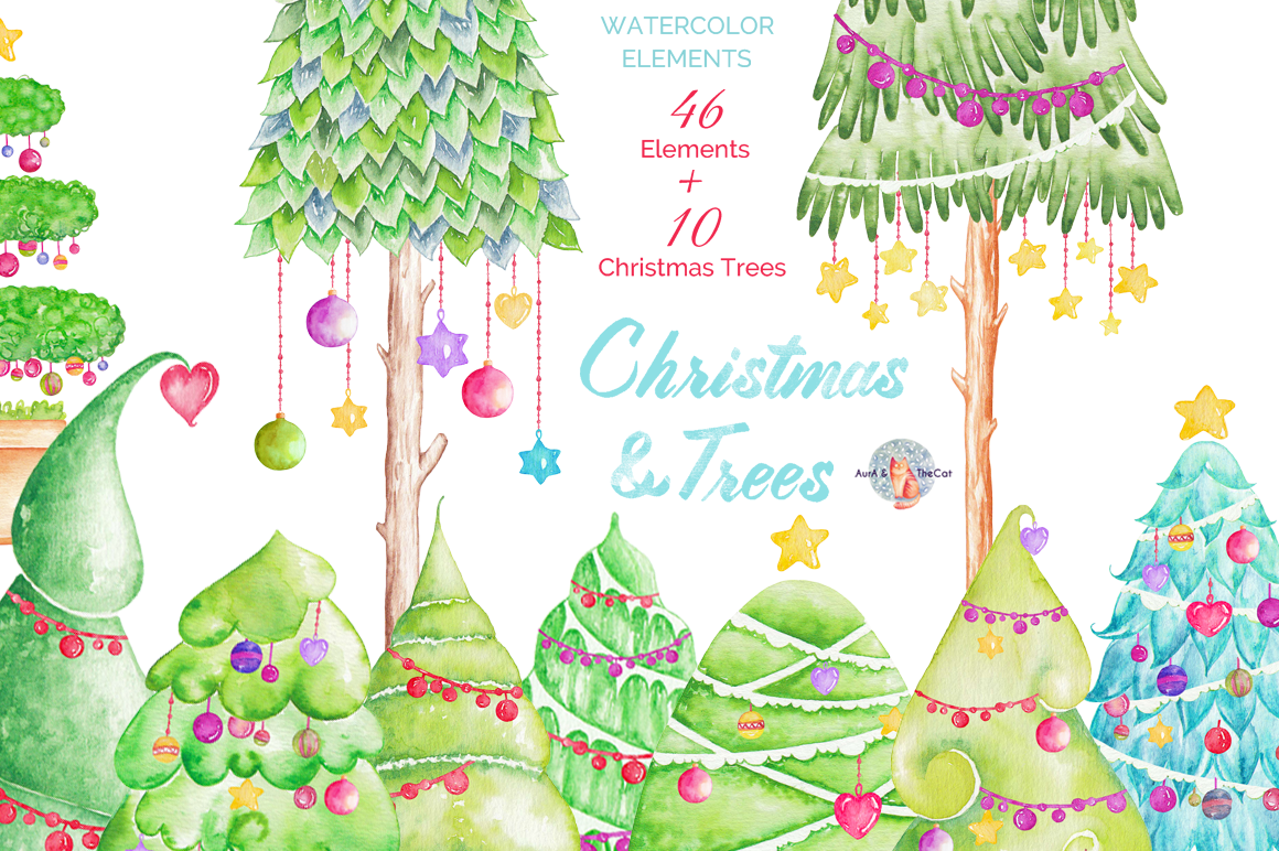 1160x772 Christmas Clipart Watercolor