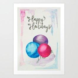 264x264 Christmas Watercolor Art Prints Society6