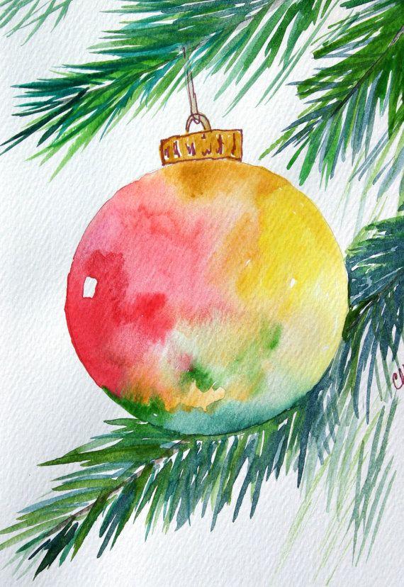 570x828 Christmas Watercolor Paintings