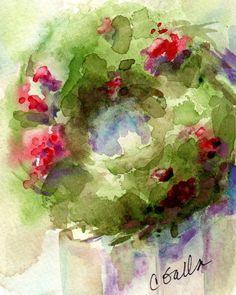 236x295 129 Best Christmas Watercolors Images Watercolour