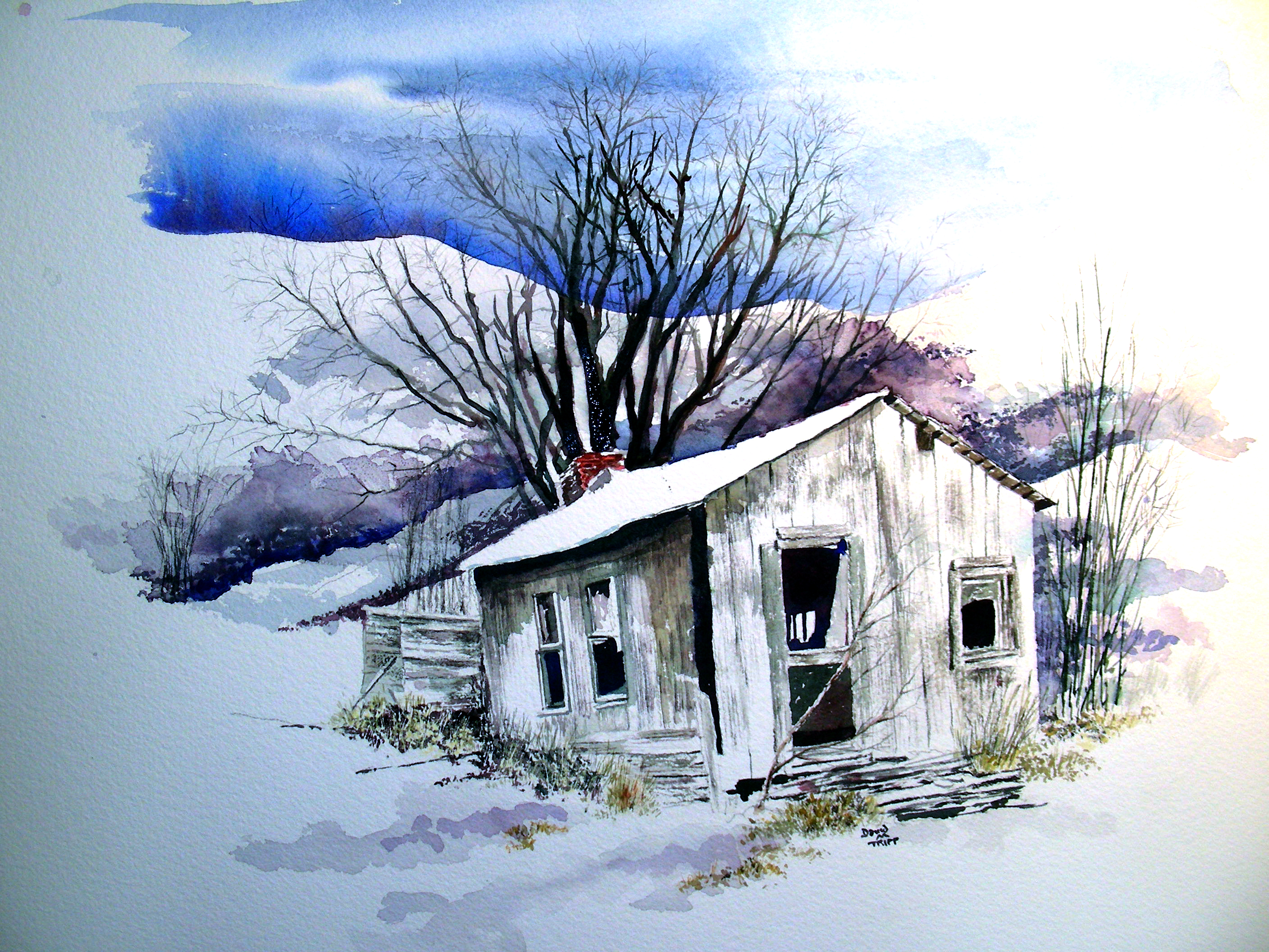 3500x2625 Finished The Christmas Watercolor Recollections 54 The Art Of